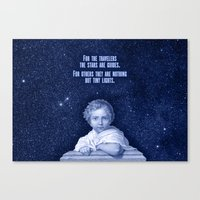 the little prince Canvas Prints featuring Little Prince by VINSPIRO