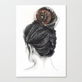 Shell woman Canvas Print