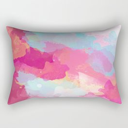 Colorful Abstract - pink and blue pattern Rectangular Pillow