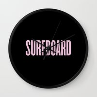 surfboard Wall Clocks featuring Surfboard by Marianna