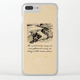 A Farewell to Arms - Hemingway Clear iPhone Case