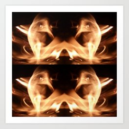 Captured in the Flames Art Print