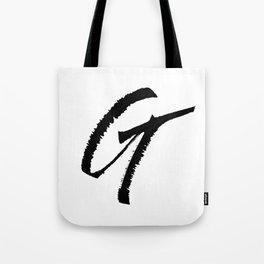 Letter G Ink Monogram Tote Bag