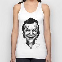 jack nicholson Tank Tops featuring JACK NICHOLSON by Simone Bellenoit : Art & Illustration