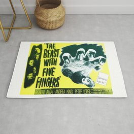 The Beast with five fingers, vintage horror movie poster Rug