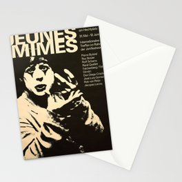 placard jeunes mimes mime Stationery Cards