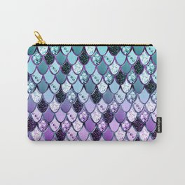 Purple Teal Mermaid Princess Glitter Scales #1 #shiny #decor #art #society6 Carry-All Pouch