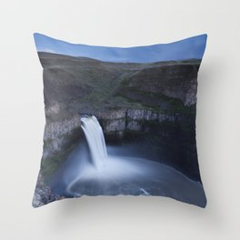 Palouse Falls Moon Throw Pillow