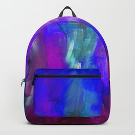 Midnight Flower Garden In Shades of Deep Blue, Violet, Purple and Pink Backpack