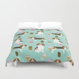 beagle ice creams dog lover pet gifts cute beagles pure breeds Duvet Cover