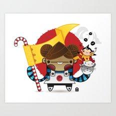 Chestnut + Kiiroihankachi cause we will not forget!!! Art Print