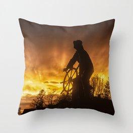 Fisherman's Memorial Sunset Throw Pillow