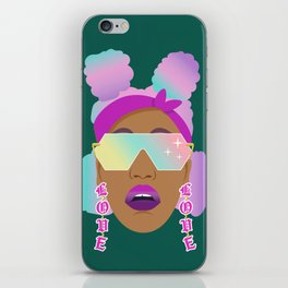 Top Puffs Girl #naturalhair #rainbowhair #shades #lipstick #blackunicorn #curlygirl iPhone Skin