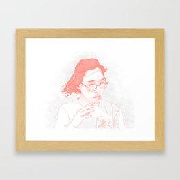 Eating Framed Art Print