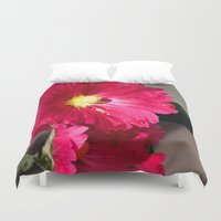 peony Duvet Covers featuring Peony by Alex Sallade