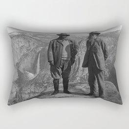 John Muir Teddy Roosevelt Yosemite National Park Rectangular Pillow
