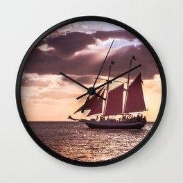 Scarlet sails Wall Clock