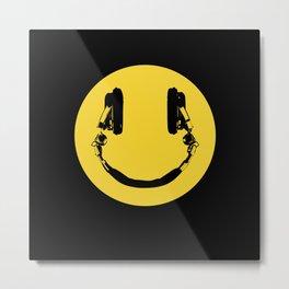 Smiley DJ Metal Print