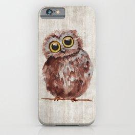 Little Owl, Owlet, Baby Animal, Baby Bird, Illustration, Animal Art iPhone Case