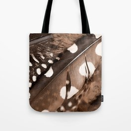 Beautiful Feathers On A Dark Brown Background #decor #buyart #society6 Tote Bag