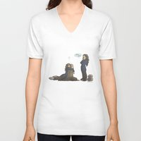 kili V-neck T-shirts featuring Kili please... by AlyTheKitten