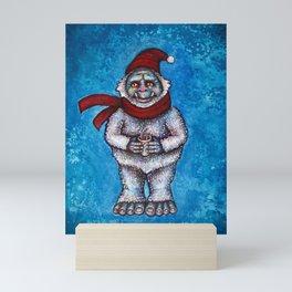 Holiday Abominable Snowman Yeti Mini Art Print