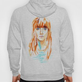 fashion #20. girl with bright orange hair and blue eyes Hoody