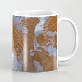 snow and leaves Coffee Mug