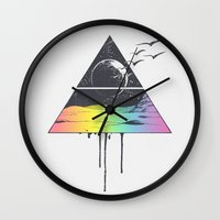 breathe Wall Clocks featuring Breathe by Jorge Lopez