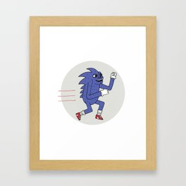 RUNHOG THE SUPERSONIC SPEED PIG Framed Art Print