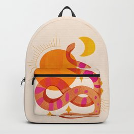 Abstraction_SUN_MOON_SNAKE_Minimalism_001 Backpack