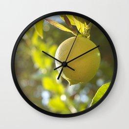 When Life Gives You Lemons Wall Clock