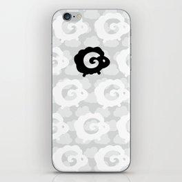 Black Sheep Pattern iPhone Skin