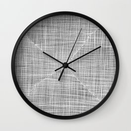 Ink Weaves: White Alabaster Wall Clock