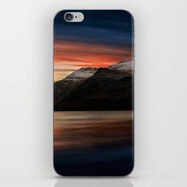 Lake Sunset Snowdonia iPhone Skin