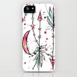 Bohemian Pink and Aqua iPhone Case