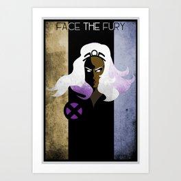 Face The Fury Art Print