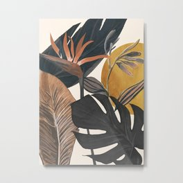Abstract Tropical Art III Metal Print