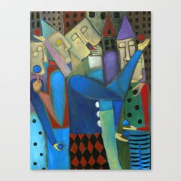 the jugglers city Canvas Print