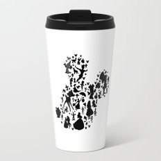 black and white mouse with characters Travel Mug