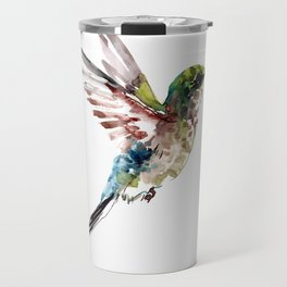 Hummingbird, bird art minimalist bird design hummingbird lover Travel Mug