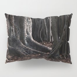 Spooky Winter Trees Pillow Sham