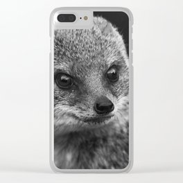 grey mongoose Clear iPhone Case