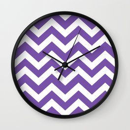 Royal purple - violet color - Zigzag Chevron Pattern Wall Clock