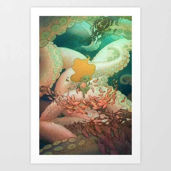 Listen To Me And I'll Tell You A Story Art Print