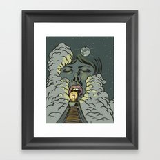 Swallowed By The Night Framed Art Print