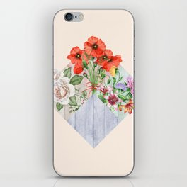 Floral Blocks iPhone Skin