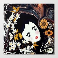 marianna Canvas Prints featuring Marianna  by I.K.Iosifelli