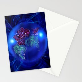 Abstract in perfection - Fertile Imagination Rose 2 Stationery Cards