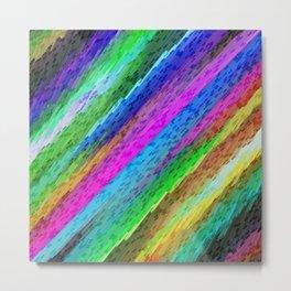 Colorful digital art splashing G478 Metal Print